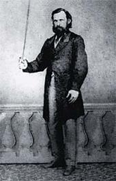 """José Joaquim de Campos Leão, o Qorpo-Santo. Imagem do livro """"Teatro completo"""""""