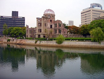 "Genbaku Dome, ou ""A cúpula da bomba atômica"", em Hiroshima. Foto: Nei Schimada"