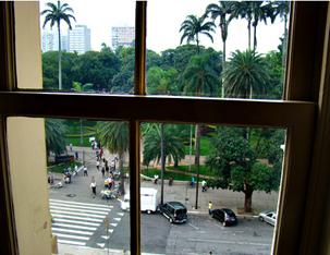 Vista do Parque da Luz, a partir do Museu da Língua Portuguesa. Foto: Gladstone Barreto. Clique para ampliar