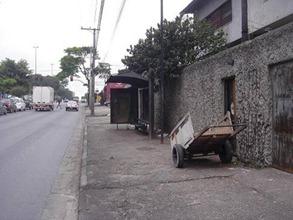 Ponto de ônibus na Av. dos Bandeirantes, 5576 - Fotos: Daniel Amorim
