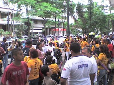 Concentração na Praça Dom José Gaspar