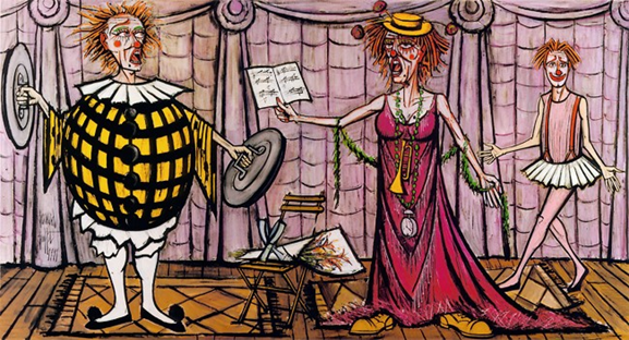 """""""Les Clowns Musiciens"""", pintura de Bernard Buffet -"""
