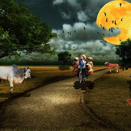 sapi by Nuki Irawan Adi Saputro - Digital Art Animals