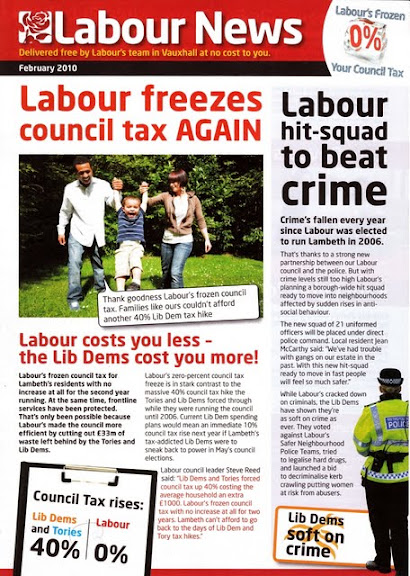 Vauxhall Labour Party News February 2010