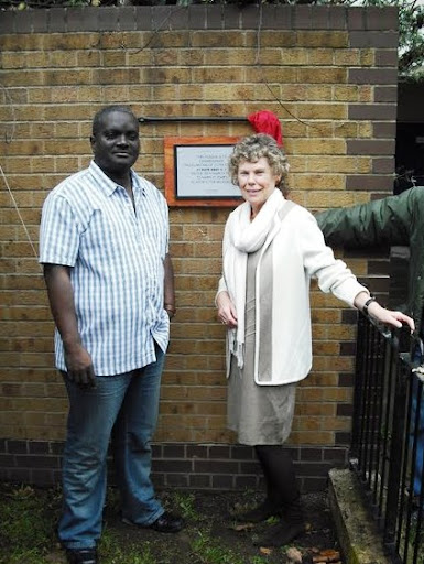 Vassall Ward candidate Kingsley Abrams and Kate Hoey