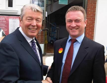 Alan Johnson with Steve Reed in Brixton