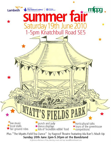Myatts Fields Park Summer Fair flyer image 1