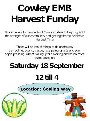 Cowley Estate Management Board funday flyer