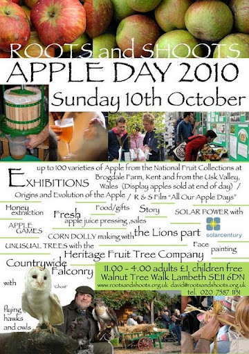 Roots and Shoots Apple Day poster