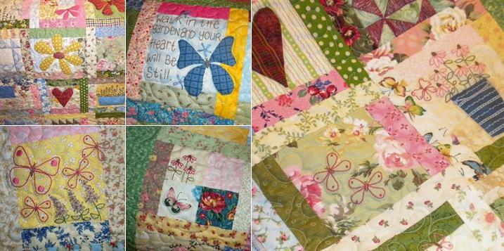 View butterfly garden quilt