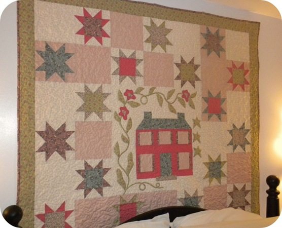 house quilt post