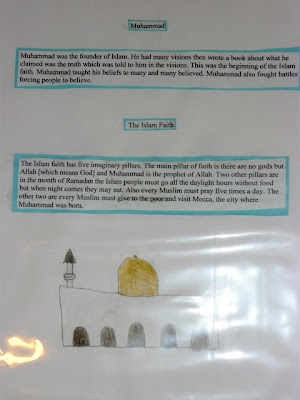 Islam study notebook page