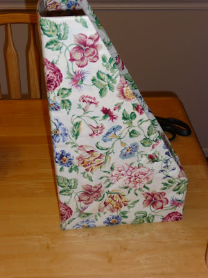 fabric covered magazine holder