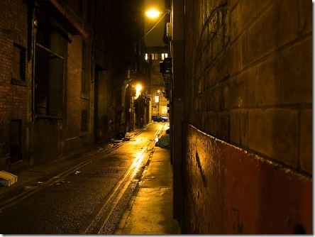 scary alleyway