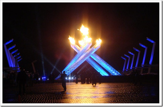 lit torch