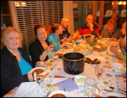 Linda's 66 birthday at Martin and Joans