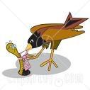 robin pulling worm