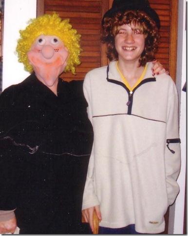 Brad and Grandma on Halloween