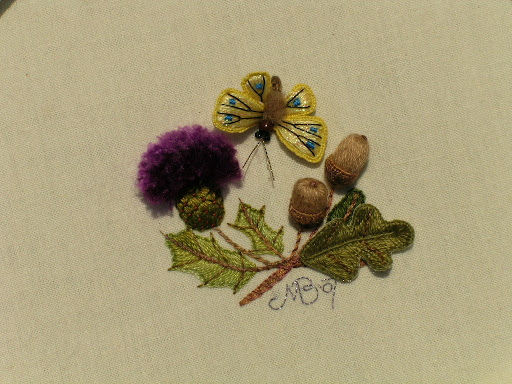 Stump Work Embroidery Embroidery Origami