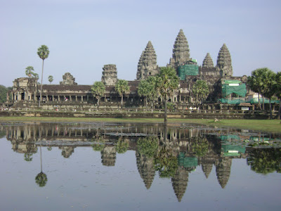 Water reflect at Angkor Wat