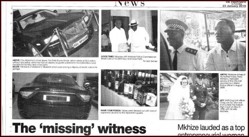 Sergeant Mpisane the missing witness, the cars, the links