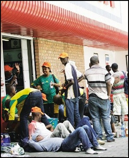 Police pissup in Bloemfontein Picture by Volksblad