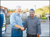 Knysna businessman Ralph Sander and WC tourism MEC Alan Winde in anti-drug march Knysna