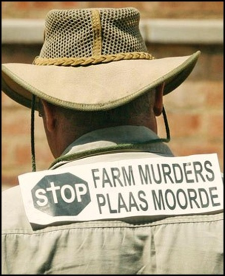 StopFarmMurders Protestor Pretoria Feb 7 2010