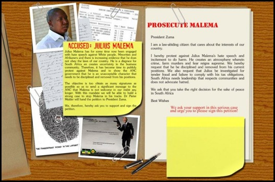 Prosecute Malema campaign
