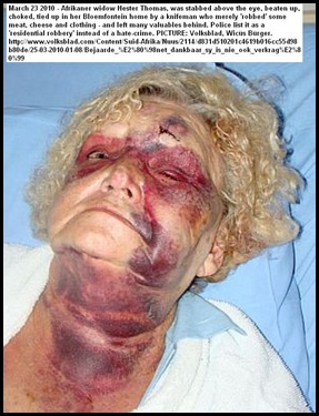 Thomas Hester Beaten by armed thugs Bloemfontein Wicus Bürger Volksblad Mar242010