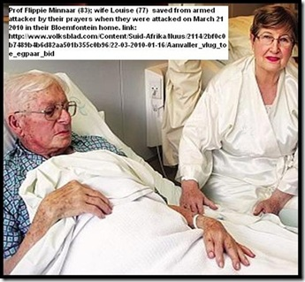 Prof Flippie Minnaar and wife Louise in hospital attack FS university Volksblad