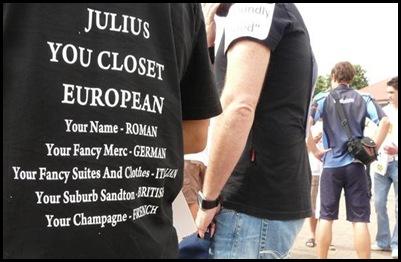 Afrikaner humour Julius Malema tshirt