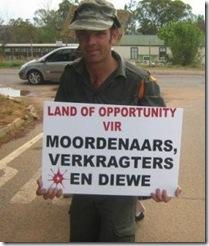 Cullinan Kameeldrift Leeufontein smlallholdiers protest murders of whites Nov 2008