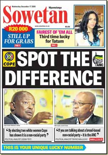 ANC splitting apart SOWETAN DEC 17 2008