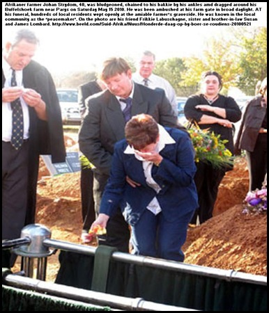 Strydom Johan Parys farmer murdered funeral sister Susan James Lombard May232010