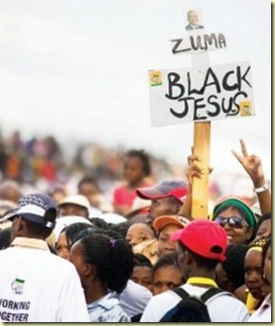 Zuma Black Jesus pic Alet Pretorius Beeld JaneFurseLimpopoMarch212009