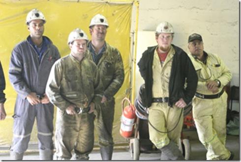 Striking Miners at Pamodzi Mine Solidariteit and NUM April 2009
