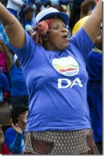 Democratic Alliance voter in Mitchell&#39;s Plain, Western Cape