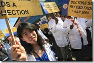 South African doctors on strike Pretoria May 29 2009 SAPAPICS CO ZA