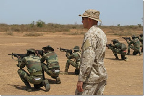 US Africom marine weapons trailing to Senegalese commandos Dakar May 5 2009