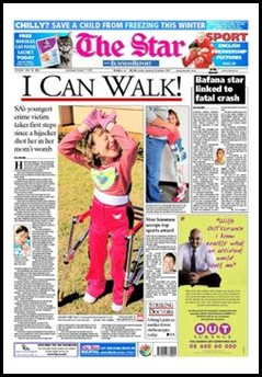 I can walk SA youngest crime victim