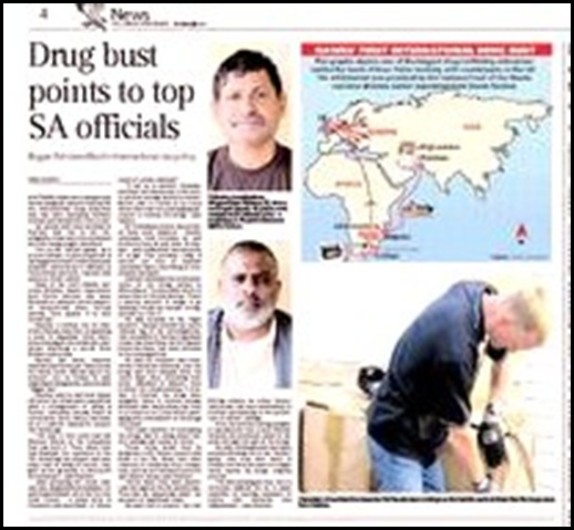 Drug Bust points to Top SA Officials Independent Sept202009P4