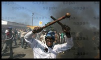 Sakhile Standerton protestors came armed SAPA Oct 13 2009