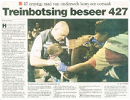 Train accident 427 injured Wonderboom Pretoria