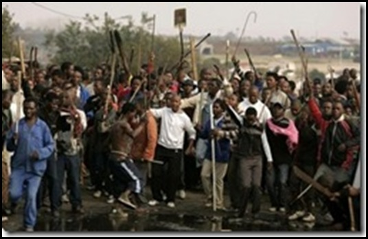 AntiZimbabwean Riots in South Africa increase again in Nov 2009