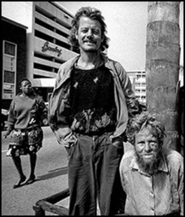 Afrikaner poor begging on streets