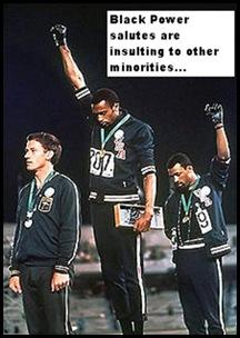 Black power salute Tommie Smit c John Carlos r 1968 Summer Olympics
