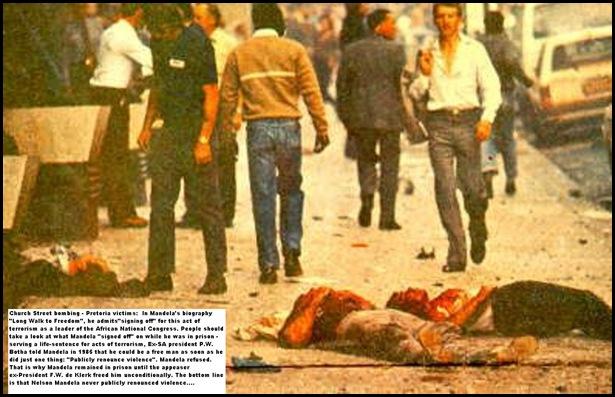 mandela terrorist 2 Church Street bomb Pretoria he signed off on