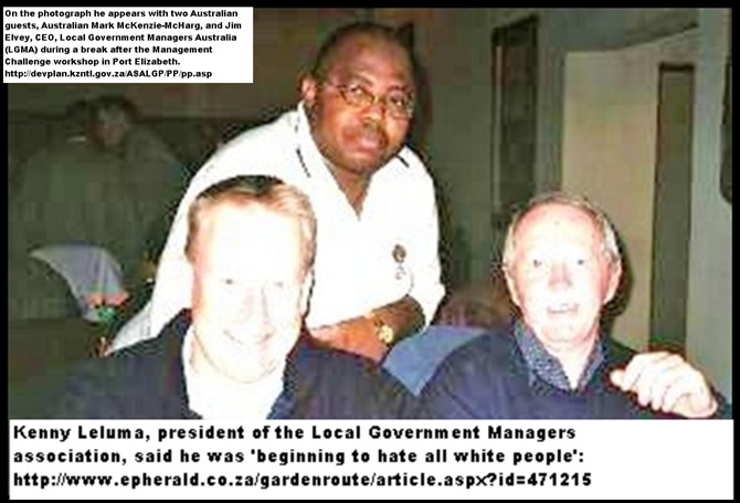 AntiAfrikanerHatespeech KENNY LELUMA ILGM NEVER SEE WHITES LIVING IN SHACKS