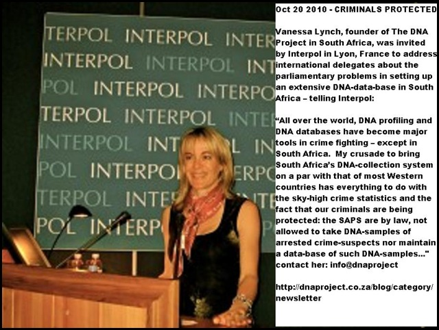 Lynch Vanessa upset Interpol delegates with child-rape crime scene pictures Oct201010 INTERPOL